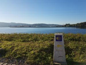 Waymarker outside of Ferrol.