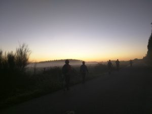 Pilgrims on the trail - early morning.