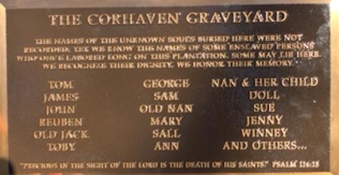 Corhaven Graveyard Plaque