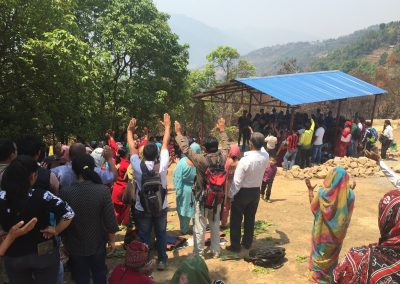 Prayer with Nepali Villagers