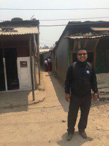 Pastor Daniel of the Anglican church at the Jagaran slum community