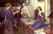 The Annunciation - John William Waterhouse