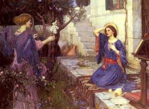 The Annunciation - John William Waterhouse